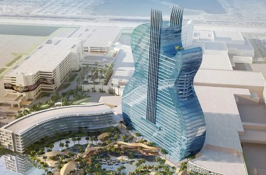 Hard Rock's 450ft Guitar Hotel and Casino Under Way